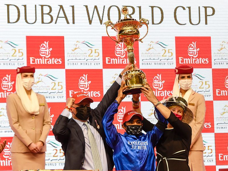 Dubai world cup trophy