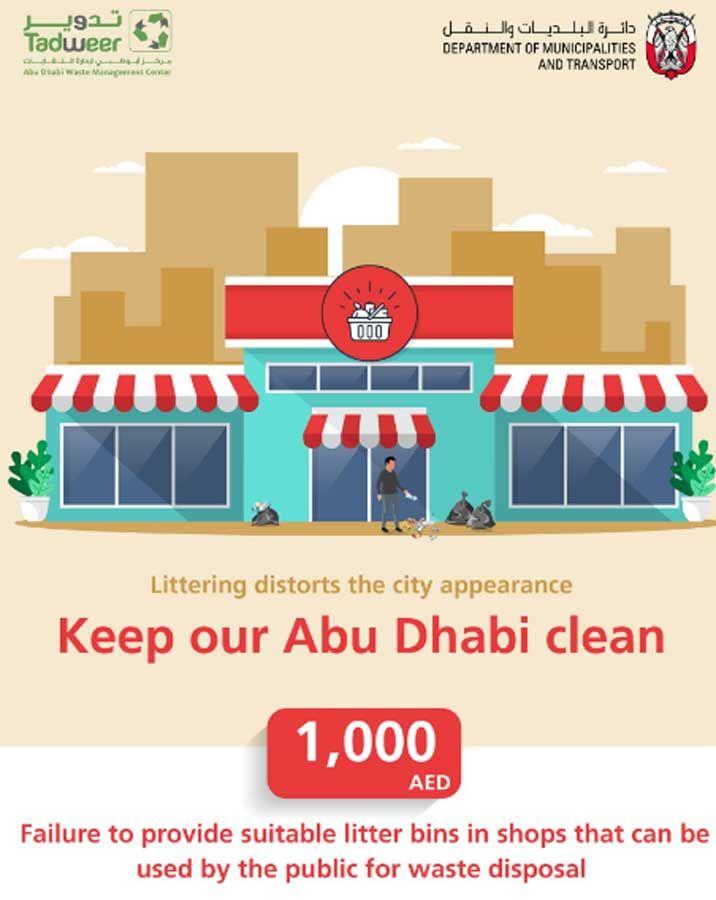 Abu Dhabi Dh1,000 fine against littering