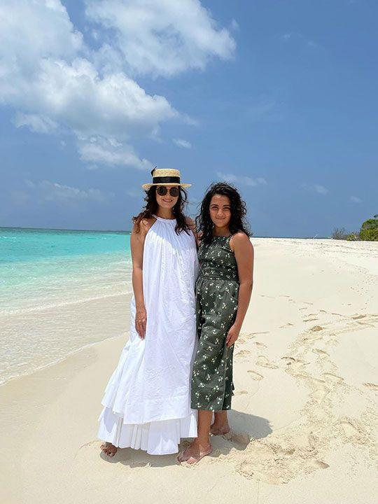 Dia Mirza and step daughter Samaira