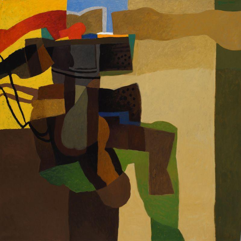 Dia al Azzawi, Desert Landscape, 2010, Courtesy of Meem Gallery.-1616922936830