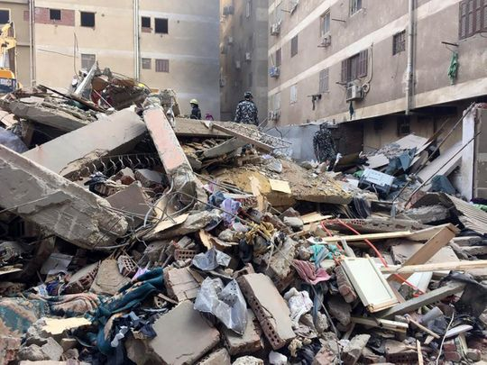 Egypt building collapse