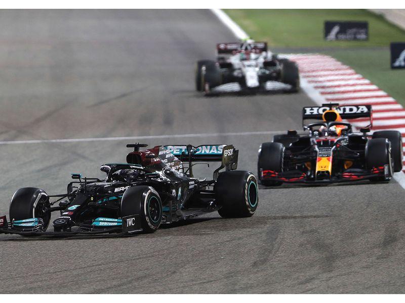 Lewis Hamilton held off Max Verstappen in Bahrain