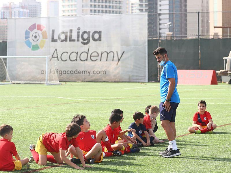 Players train at ISD La Liga Academy