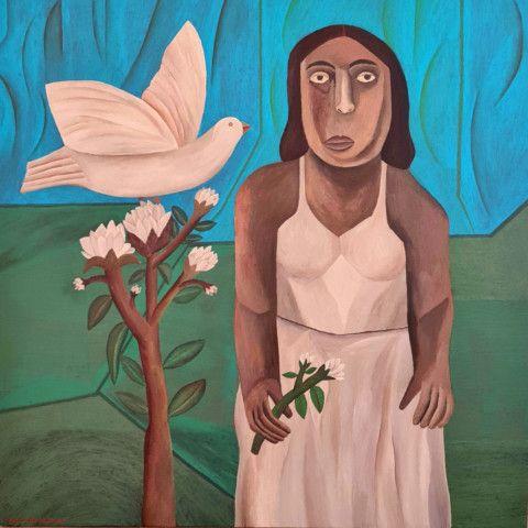 Salah Elmur, The White Dove-Courtesy of Circle Art Gallery.-1616922908518