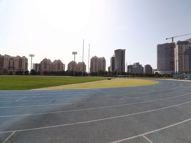 The ISD track and field site at Dubai Sports City