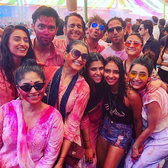 Ekta Kapoor holi party