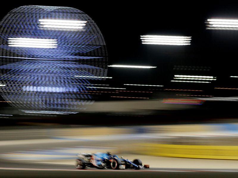 Esteban Ocon during the Bahrain Grand Prix