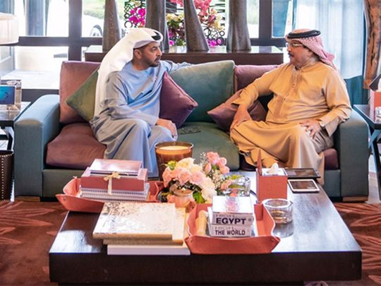 His Majesty King Hamad bin Isa Al Khalifa of Bahrain today welcomed at his residence in Rabat H.H. Sheikh Hamdan bin Zayed Al Nahyan, Ruler's Representative in Al Dhafra Region.