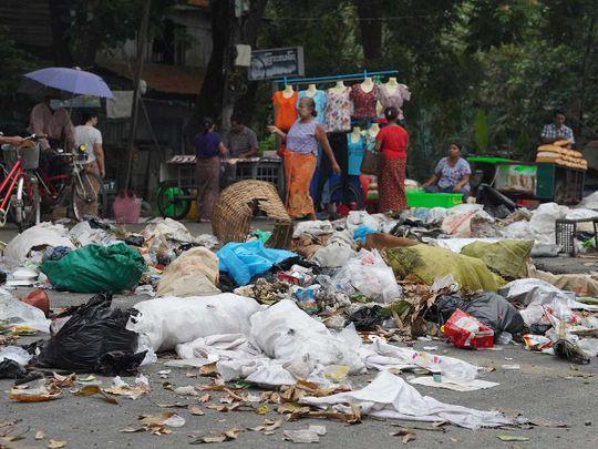 Myanmar trash