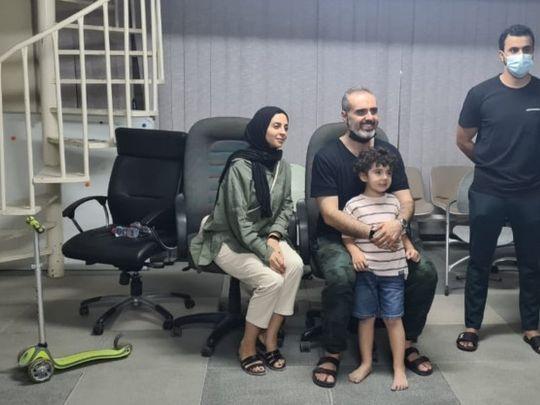 NAT Dubai police reunite boy with parents-1617102460539