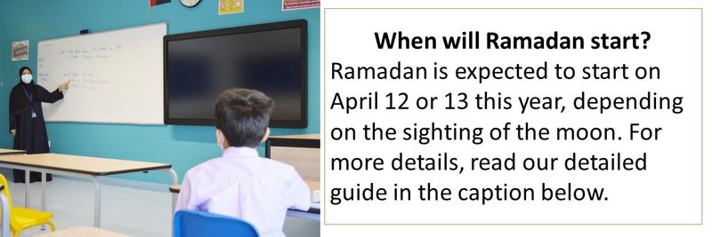 When will Ramadan start? Ramadan is expected to start on April 12 or 13 this year, depending on the sighting of the moon. For more details, read our detailed guide in the caption below.