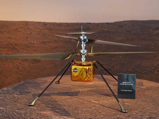 20210331 full scale model of Ingenuity
