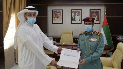 NAT Ajman Police chief honours officer-1617174107285