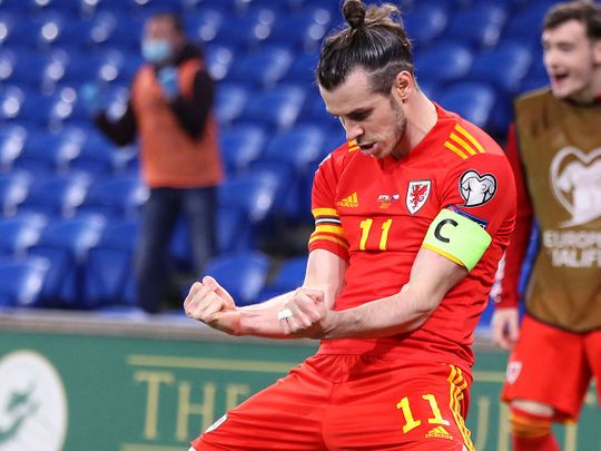 Wales captain Gareth Bale against Czech Republic.