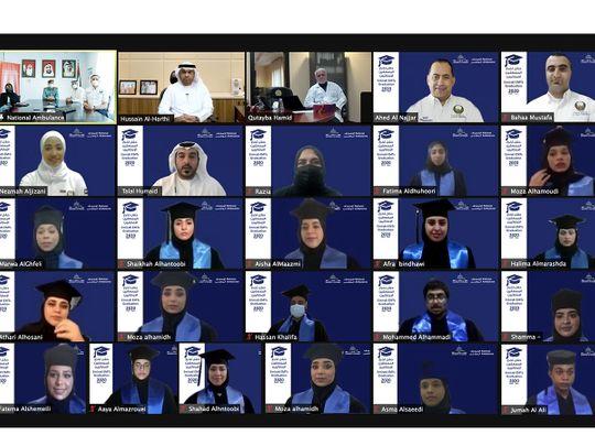 National Ambulance &UOS Celebrate Emirati EMT Graduation-1617287884738