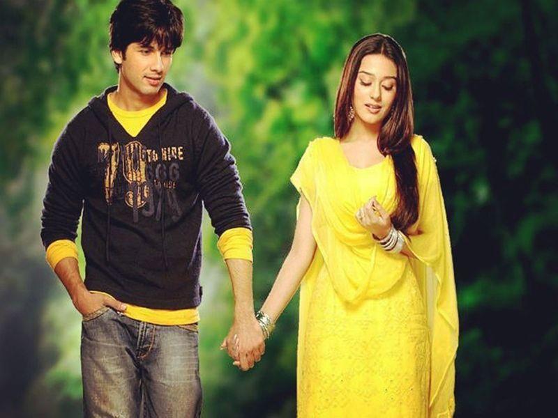 Shahid Kapoor and Amrita Rao
