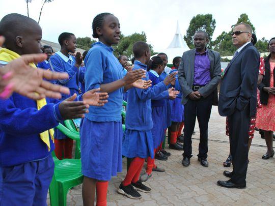 Tristar Group CEO Eugene Mayne with Shoolchildren in Kenya-1617371572162