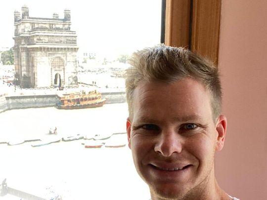 Steve Smith checked in for Delhi in Mumbai