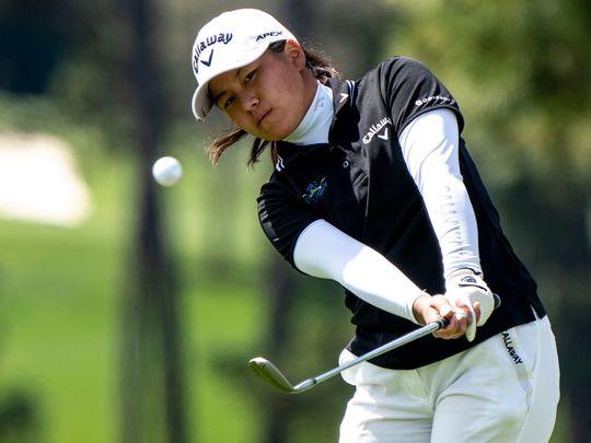 Japan's Tsubasa Kajitani during the Augusta Women's National Amateur