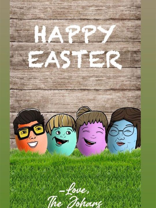 Karan Johar Easter wishes