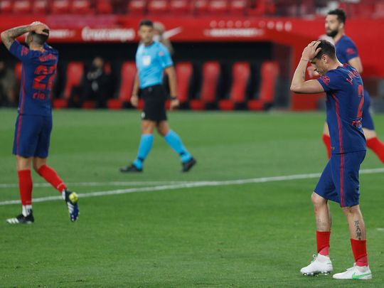 Atletico lost to Sevilla