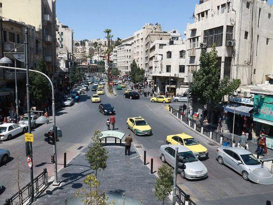 Stock Jordan skyline Amman