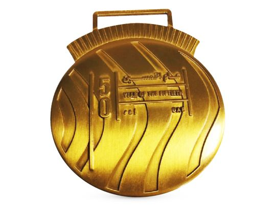 The 'Year of the 50th' Dubai  Sports Council medal