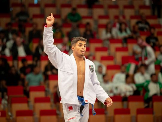 Zayed Al Katheeri, one of the UAE's most talented jiu-jitsu fighters