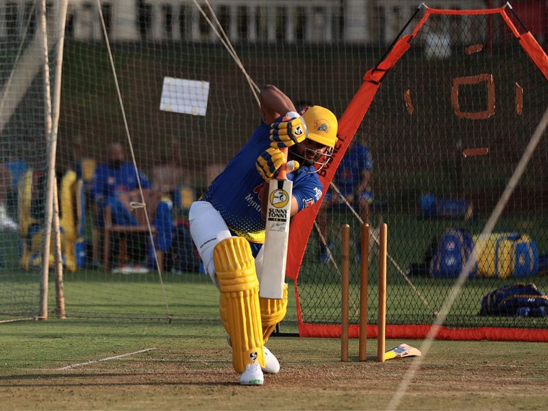 Chennai Super Kings in training for IPL