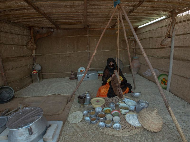 From herbal medical practices and rustic culinary traditions to the art of baking and weaving, the recreated Bedouin village at the 18th Sharjah Heritage Days offers a fascinating glimpse into a unique way of life characterised by utmost simplicity and extreme resourcefulness.
