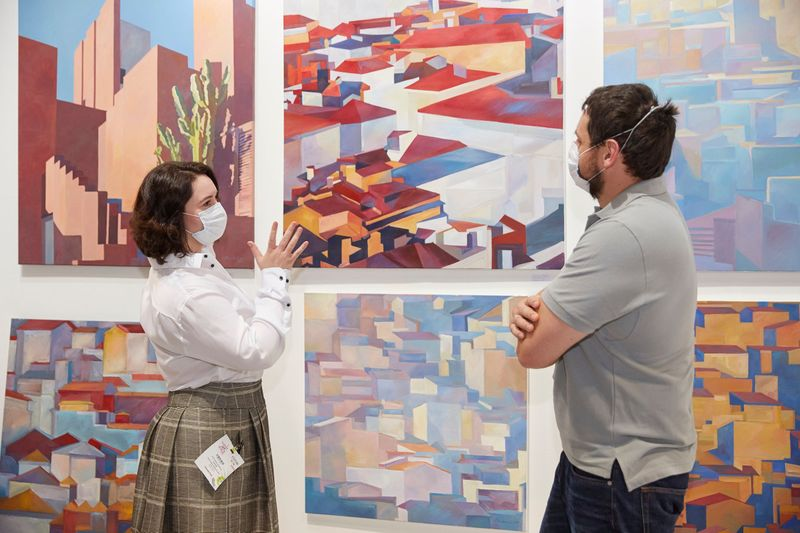 Julia Smolenkova exhibiting for the fourth time at World Art Dubai having been one of the top sellers at last year's show