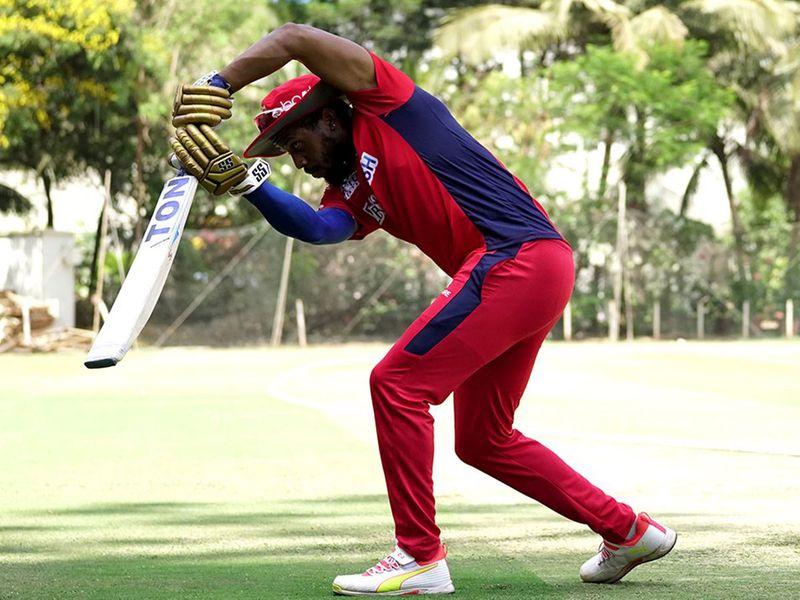Punjab's big-hitter Chris Gayle was getting up to speed