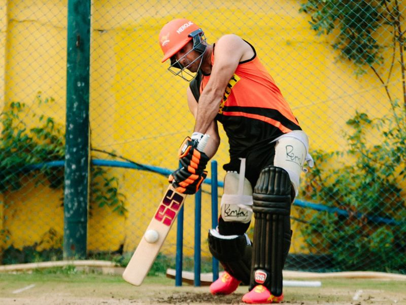 Sunrisers Hyderabad's Mohammad Nabi was ensuring he will be able to hit the ground running - literally.