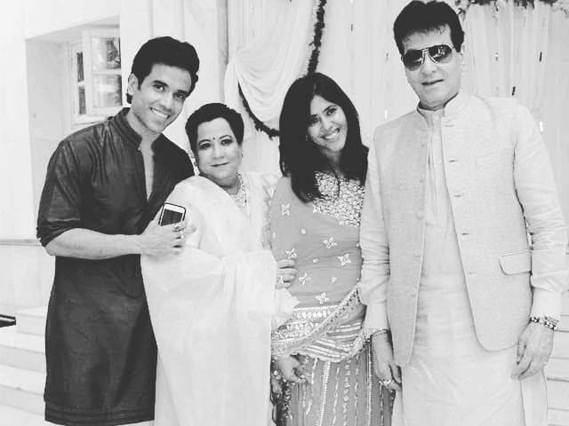Jeetendra with his family