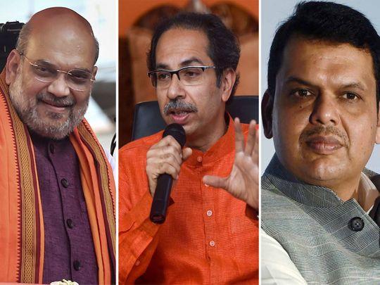 Amit Shah, Thackeray, Fadnavis