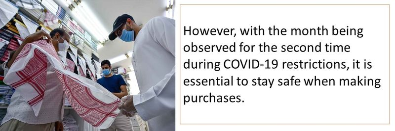 However, with the month being observed for the second time during COVID-19 restrictions, it is essential to stay safe when making purchases.