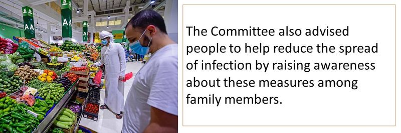 The Committee also advised people to help reduce the spread of infection by raising awareness about these measures among family members.