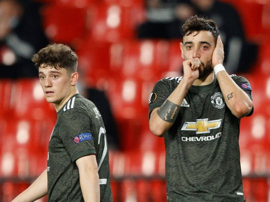 Manchester United thumped Granada in the Europa League