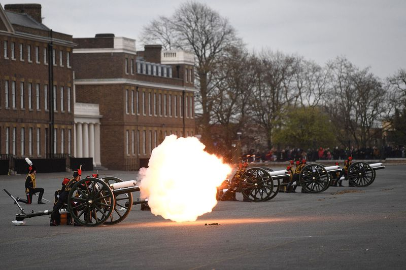 Photos: Gun salutes fired across UK to mark Prince Philip's death