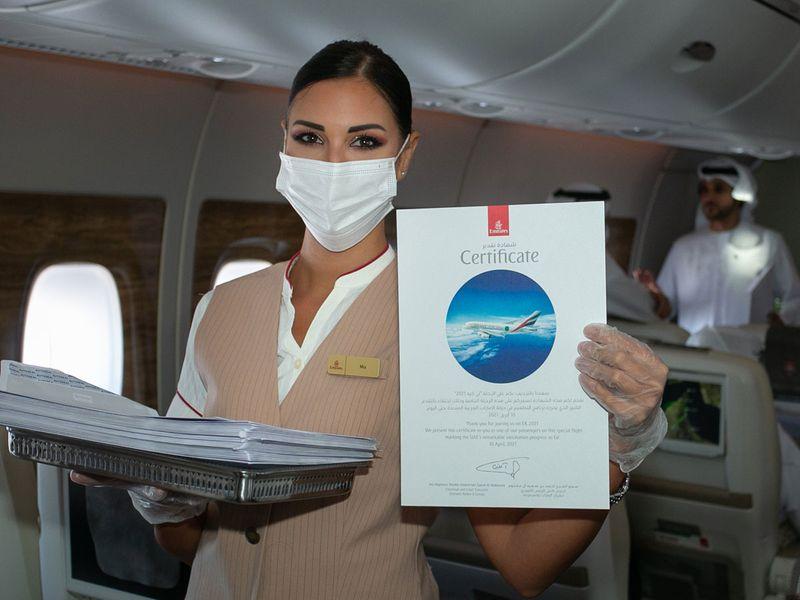 Dubai: Emirates' special flight EK 2021 marked milestone journey in UAE