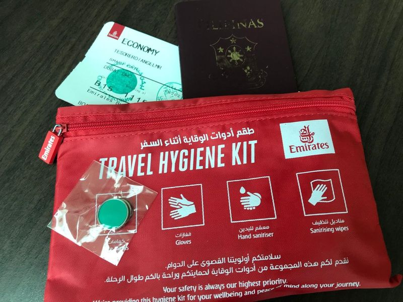 Emirates travel hygiene kit