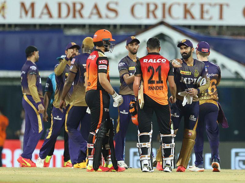 Kolkata Knight Riders and Sunrisers Hyderabad players