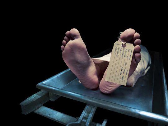 Stock Suicide dead body morgue