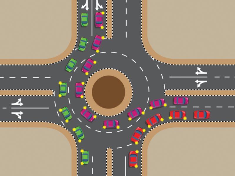 Two-lane roundabouts