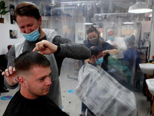 Hair cut UK Britain covid