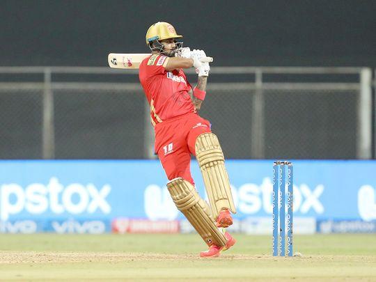 KL Rahul of Punjab Kings play a shot.
