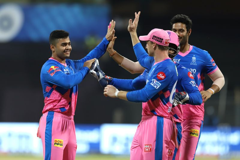 Riyan Parag (left) of Rajasthan Royals