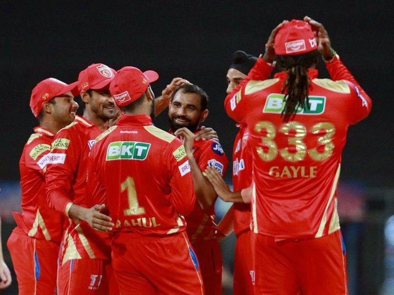Maharashtra, Apr 12 (ANI): Mohammad Shami of Punjab Kings celebrates the dismissal of Ben Stokes of Rajasthan Royals during the match between Rajasthan Royals and the Punjab Kings at the Wankhede Stadium in Mumbai on Monday. (ANI Photo/ IPL Twitter)