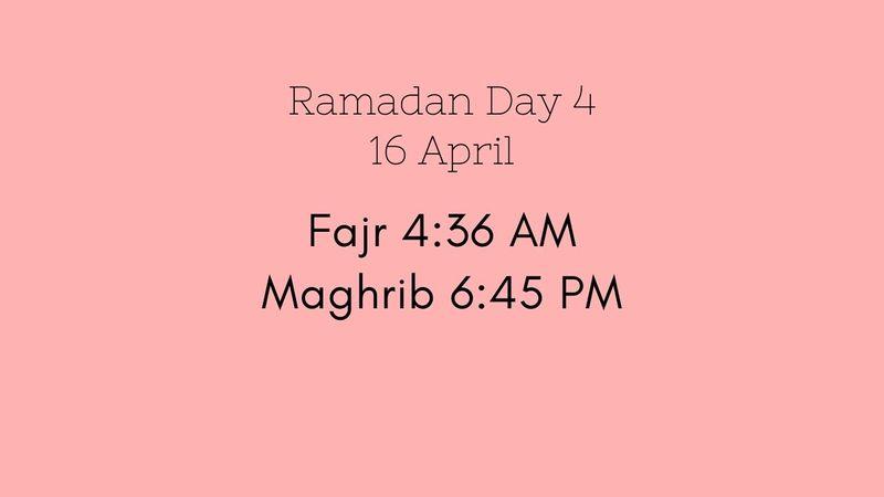 Ramadan Iftar timings