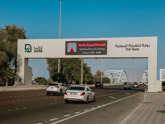 Stock Abu Dhabi Darb road toll